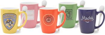 3286 - 14 oz. Mug with Spoon- 2 Tone