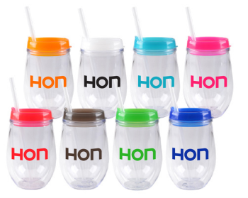 BEVTOGO-10 oz.Double wall Tumbler/Matching Lid & Straw to go